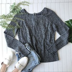 American Eagle sweater grey marbled pullover